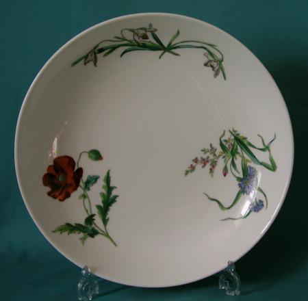A Minton botanical deep plate c.1877