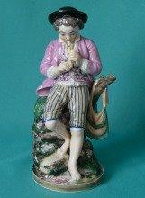 A Niderviller Porcelain Figure of a Shepherd Boy c.1800