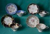 4 Ridgway porcelain Cups & Saucers c.1835-40